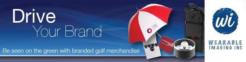 Sampling of Promotional Golf Tournament Products by Wearable Imaging Inc. Orange County