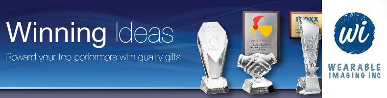 Sampling of Promotional Awards and Recognition Products by Wearable Imaging Inc. Orange County